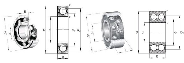 Deep Groove Ball Bearings 3D